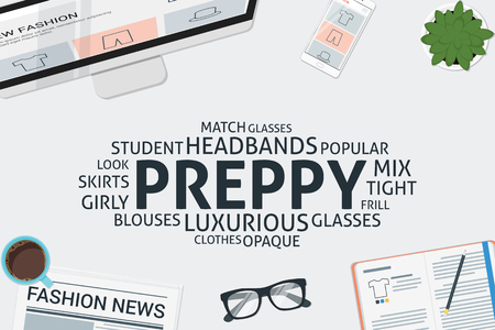 frill: vector preppy concept,template Illustration