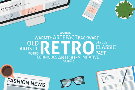 vector retro concept,template