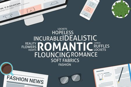 vector romantic concept,template