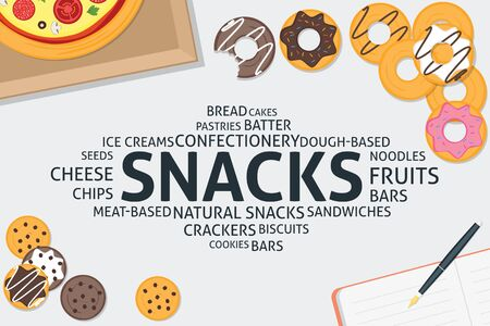 vector snacks concept,template