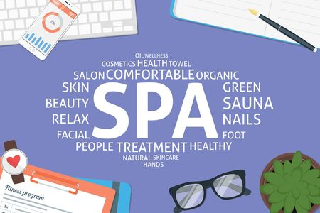 vector spa concept,template