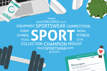 vector sport concept,template