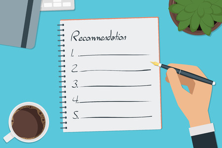 vector drawing recommendation list concept