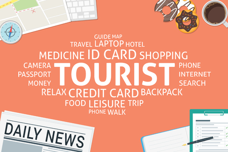 vector tourist concept,template