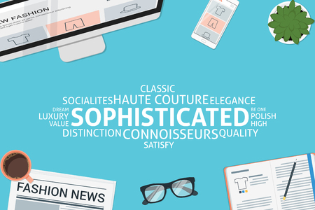 sophisticated: vector sophisticated concept,template