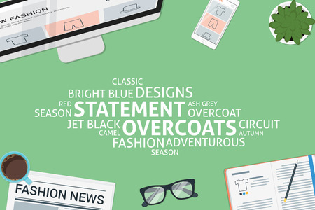 vector statement overcoats concept,template