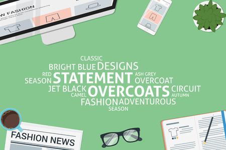 vector statement overcoats concept,template