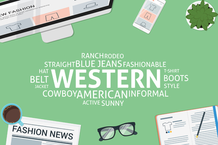 vector western concept,template