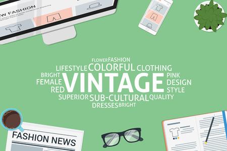 vector vintage concept,template