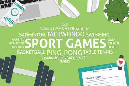 vector sport games concept,template