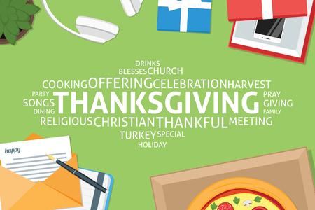 vector thanksgiving concept,template
