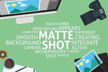 vector matte shot concept,template