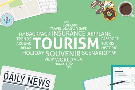 vector tourism concept,template