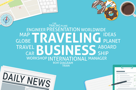 vector traveling business concept,template