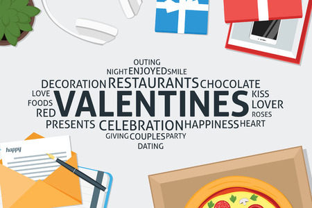 vector valentines concept,template