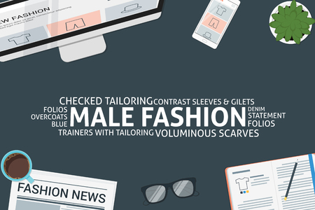 vector male fashion concept,template Ilustrace