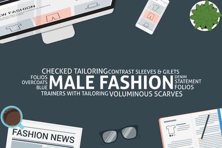 vector male fashion concept,template Illustration