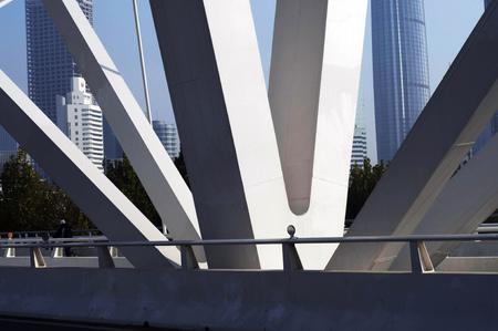 progressive: Progressive bridge in Tianjin Editorial