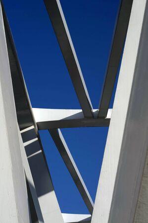 progressive: Close up progressive bridge in Tianjin