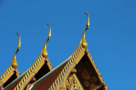 gables: Temple triple roof with gables, Thailand