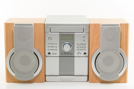 mini compact radio system with CD player Stock Photo - 14916559
