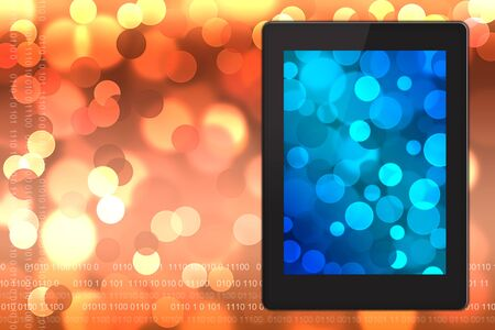 Tablet pc on  blurred bokeh background.  Stock Photo - 15221120