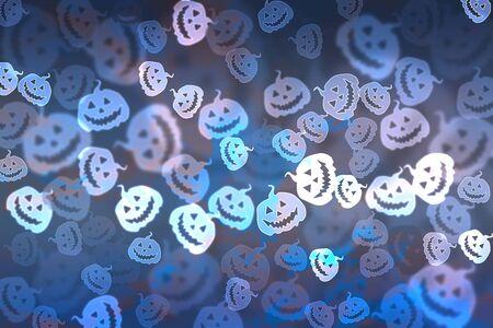 drakula: Pumpkin bokeh Halloween background