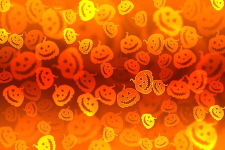 Pumpkin bokeh Halloween background photo