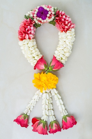 Garland Thai traditional flower style Stock Photo