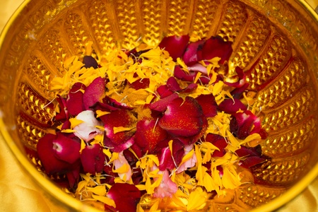 Flowers in a bowl. photo
