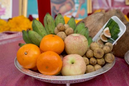 Beautifully Decorated fruits for Deepawali celebration to worship.  Stock Photo - 16137480
