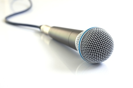 Microphone on white background. photo