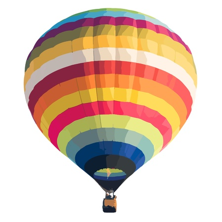 air sport: Colorful Hot air balloon isolated on white background. vector format Illustration