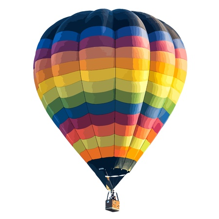 hot air balloon: Colorful Hot air balloon isolated on white background. vector format Illustration