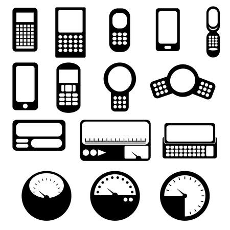 gagant: Mobile et gage ic�ne, format vectoriel