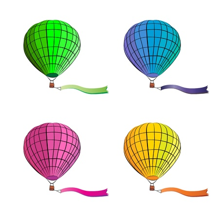 drawing of Hot air balloon on white background  vector format Stock Vector - 19278365
