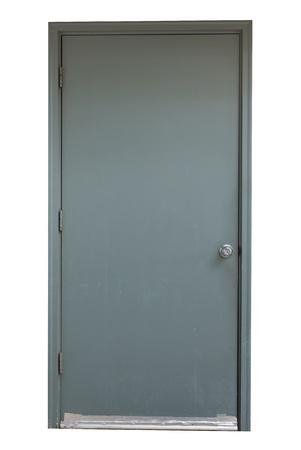 door casing: grey door isolated on white background
