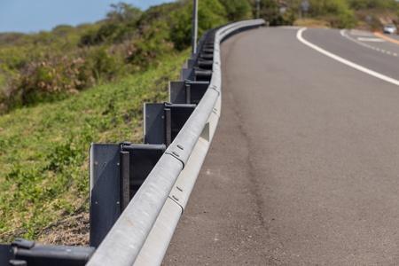 guard rail: Road with guard rail