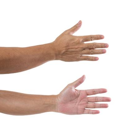 Man hand isolated on white background Stock Photo - 21379983