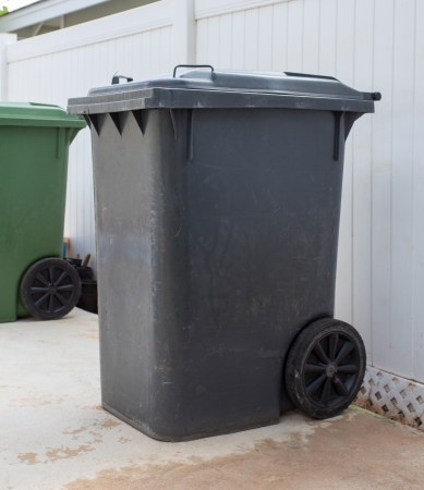 Gray garbage photo