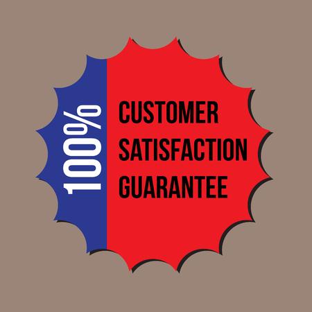 100  customer satisfaction guarantee, vector format Stock Vector - 22439936
