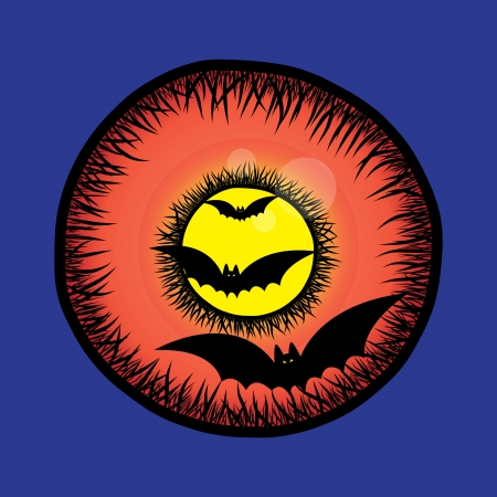 Halloween eye Vector