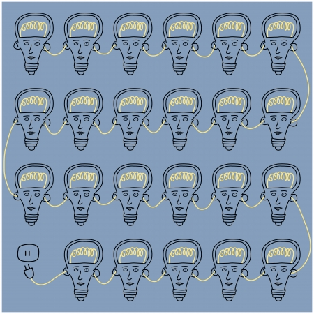 Light bulb head with unplug,vector format Vector