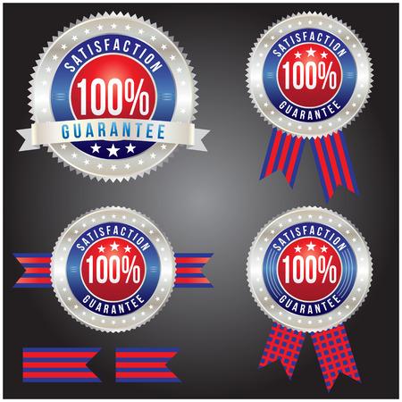 100 percent satisfaction guarantee badge, vector format Vector