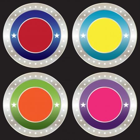 blank silver badge, vector format Vector