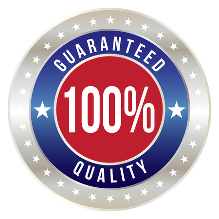 100 percent quality guaranteed badge, vector format Illustration