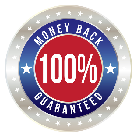 100 percent money back guaranteed badge, vector format Vector