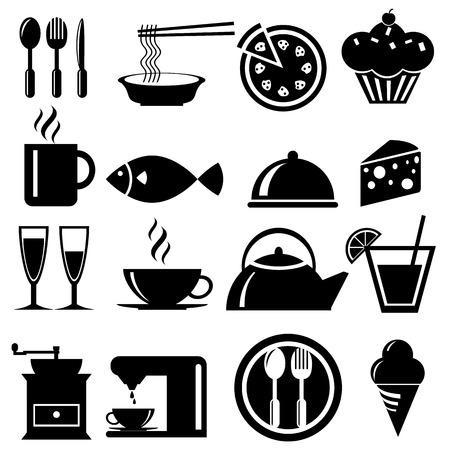 Food icons set, vector format Vector