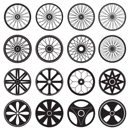 Bicycle Wheel, vector format Illustration