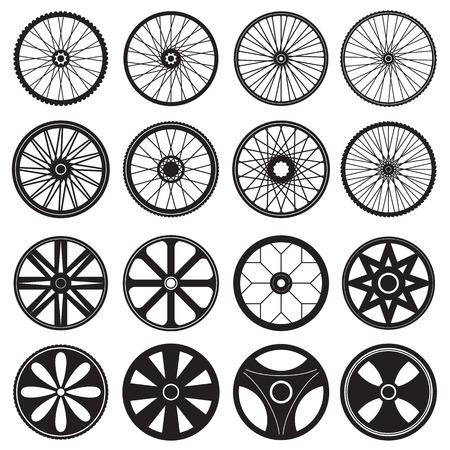 Bicycle Wheel, vector format Illustration